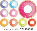 collection of coloured icing... | Shutterstock .eps vector #576598339