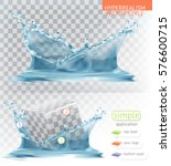 water splash with transparency. ... | Shutterstock .eps vector #576600715