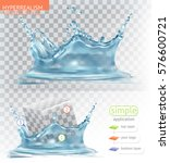 water splash with transparency. ... | Shutterstock .eps vector #576600721