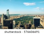 new york city skyline with... | Shutterstock . vector #576606691