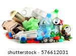 recyclable garbage consisting... | Shutterstock . vector #576612031
