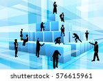 a team of businesspeople... | Shutterstock .eps vector #576615961