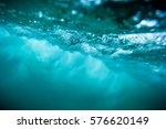 wave underwater. blue ocean in... | Shutterstock . vector #576620149