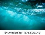 wave underwater. blue ocean in... | Shutterstock . vector #576620149