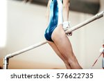 competition in gymnastics... | Shutterstock . vector #576622735