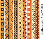 seamless vector tribal texture. ...   Shutterstock .eps vector #576628381