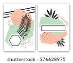 set of tropical exotic card... | Shutterstock .eps vector #576628975