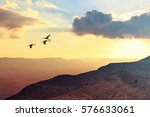 migrating cranes fly   flock ... | Shutterstock . vector #576633061