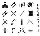 Ninja Tools Icons Set. Simple...