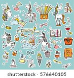 vector set of magic cute... | Shutterstock .eps vector #576640105
