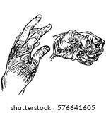hands set | Shutterstock .eps vector #576641605