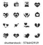 love vector icons for user... | Shutterstock .eps vector #576642919