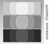 vector set monochrome... | Shutterstock .eps vector #576644299