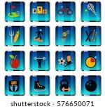 sport web icons for user... | Shutterstock .eps vector #576650071