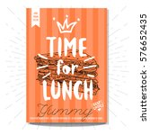 hand drawn  card  poster. time... | Shutterstock .eps vector #576652435