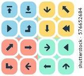 set of 16 simple indicator...   Shutterstock .eps vector #576652684