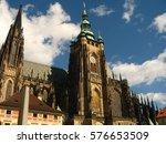 eastern europe clock tower | Shutterstock . vector #576653509
