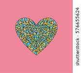 colorful mosaic heart vector...   Shutterstock .eps vector #576655624