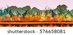 alien planet background. fire...