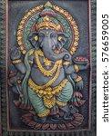 the ganesh statue radiates... | Shutterstock . vector #576659005