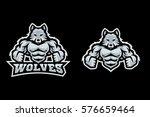 modern sport logo template with ... | Shutterstock .eps vector #576659464
