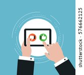 social engagement  like and... | Shutterstock .eps vector #576662125