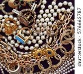 a collection of  precious... | Shutterstock . vector #576663787