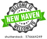 new haven. welcome to new haven ... | Shutterstock .eps vector #576664249