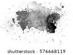 Black Watercolor Stain....