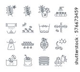 set of thin line icons coffee... | Shutterstock .eps vector #576673459