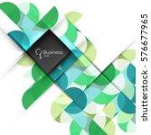 geometric shape on white vector.... | Shutterstock .eps vector #576677965