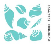 set of silhouettes of sea...   Shutterstock .eps vector #576679939