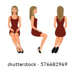 vector illustration of three... | Shutterstock .eps vector #576682969