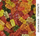 texture of colorful sweet jelly ... | Shutterstock . vector #576690679