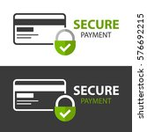 secure payment icon.  isolated...   Shutterstock .eps vector #576692215