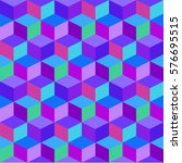 Geometric Colorful Cube Vector...
