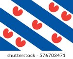 vector flag of friesland or... | Shutterstock .eps vector #576703471