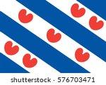 vector flag of friesland or... | Shutterstock .eps vector #576703471