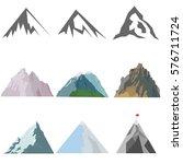 mountains  mountain icon  stone ... | Shutterstock .eps vector #576711724
