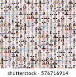 collage of diverse multi ethnic ... | Shutterstock . vector #576716914