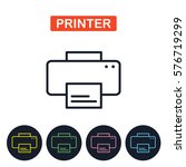 vector printer icon. gaget...
