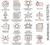 vector set of 16 icons related... | Shutterstock .eps vector #576722791