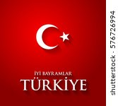 turkey flag color vector... | Shutterstock .eps vector #576726994