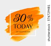 sale today 30  off sign over... | Shutterstock .eps vector #576729481
