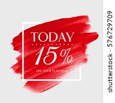 sale today 15  off sign over... | Shutterstock .eps vector #576729709