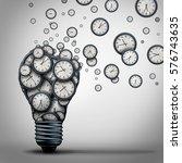 time marketing idea business... | Shutterstock . vector #576743635