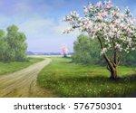 Spring  Road  Landscape...