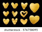 set of shining hearts for you... | Shutterstock . vector #576758095