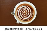 a cup of capuchino | Shutterstock . vector #576758881