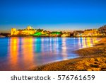 view of bodrum castle at sunset ... | Shutterstock . vector #576761659